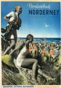 German poster -  North Sea resort Nordeney, Prussian State resort (1937)